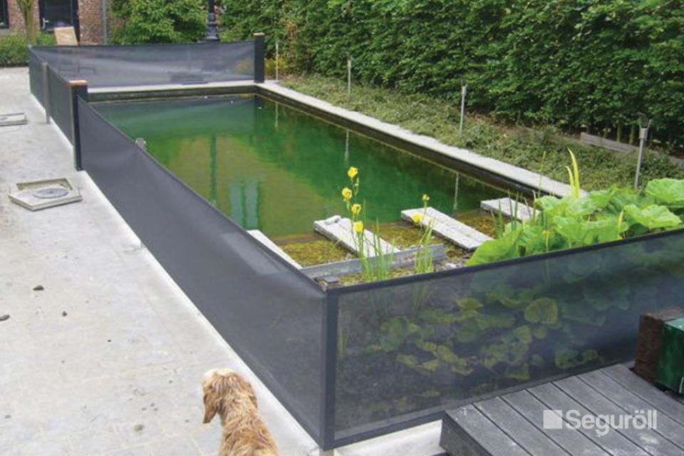Seguroll, veilige vertikale afscherming voor vijver of zwembad